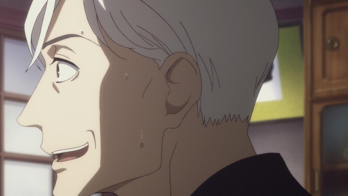 今週も八雲師匠が最高でした。石田彰氏はやはりすごい。師匠の汗プライスレス(チョロッと出る舌もエロイ)。#落語心中