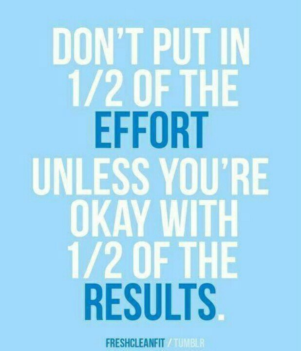 Put your 100% effort if you want 100% results. #inspiRUNation https://t.co/EU8KhW5tYM