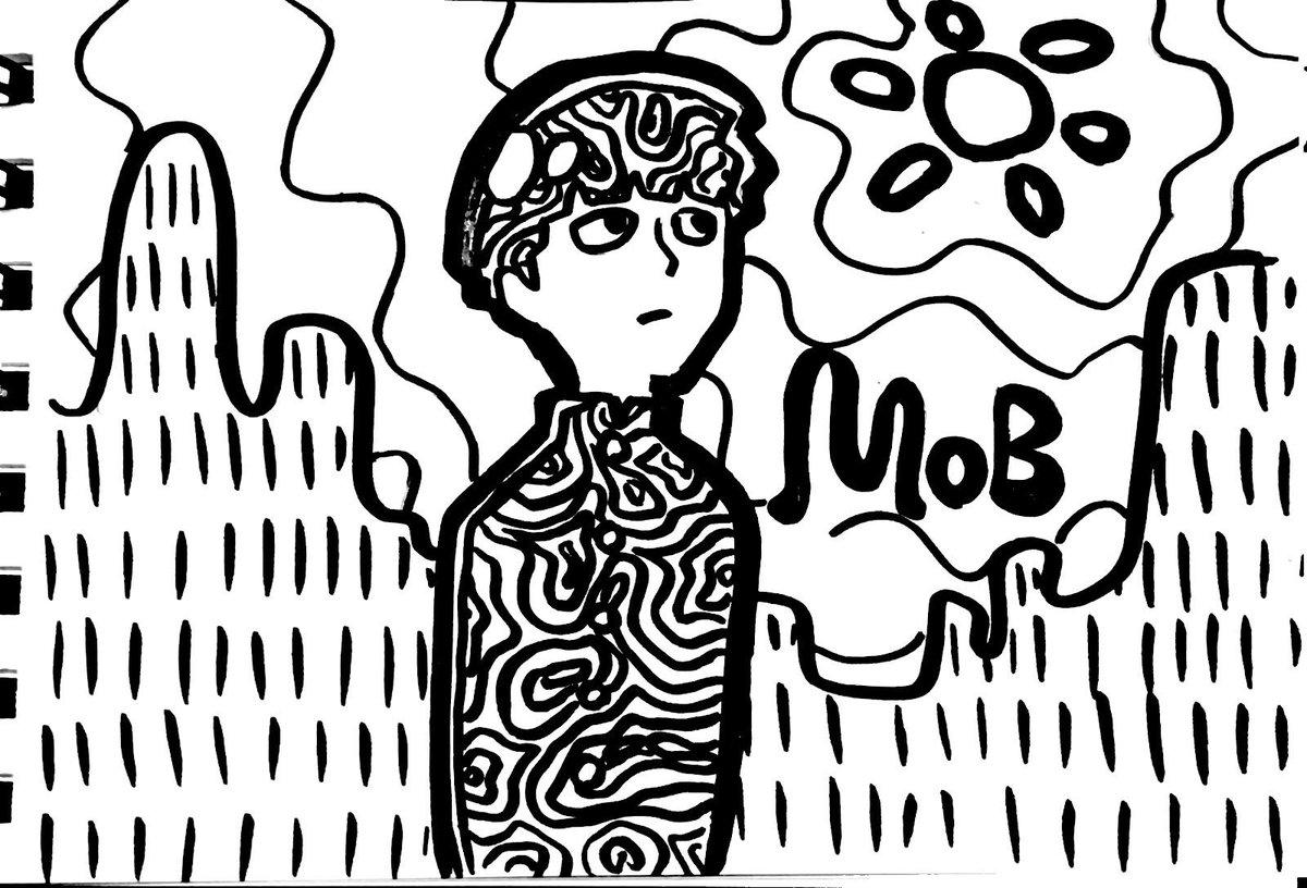 あんにゅいもぶくん落描き #モブサイコ100