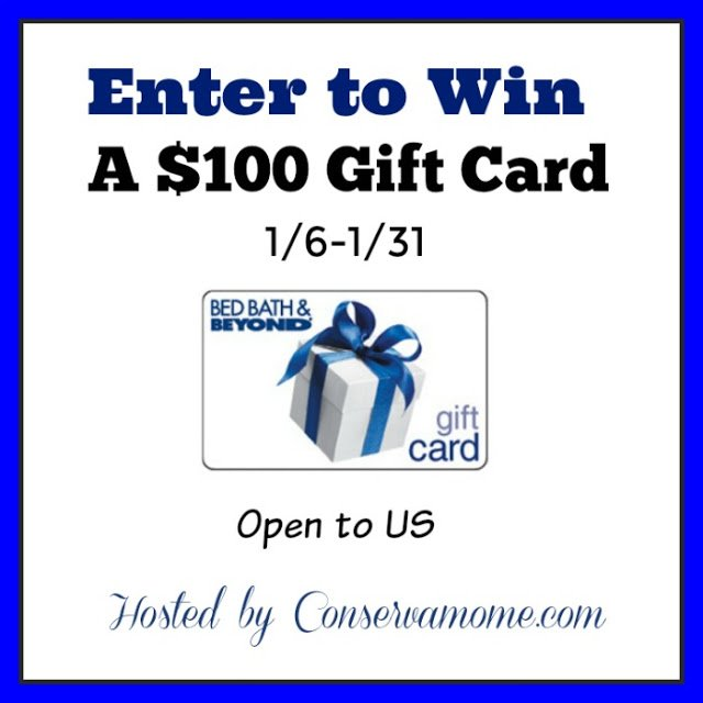 $100 Bed Bath & Beyond Gift Card Giveaway