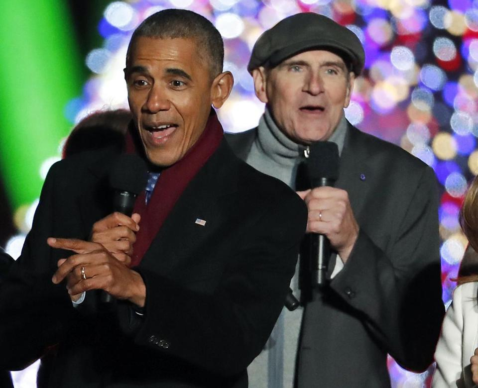 'I've seen rain:' James Taylor laments end of Obama era