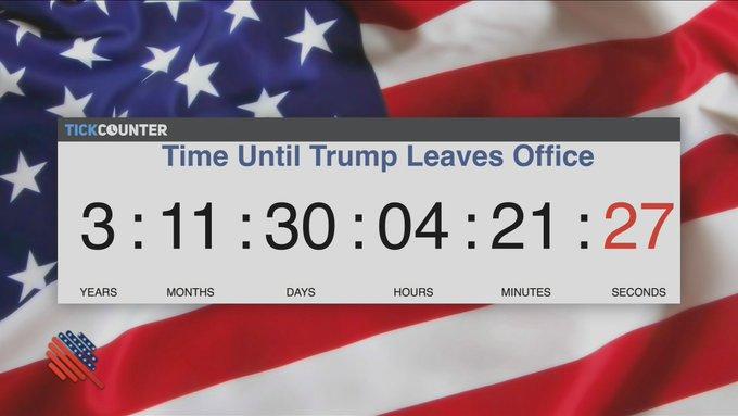 C'est le temps qu'il reste à Donald Trump avant de quitter la Maison-Blanche, sauf réélection. #Quotidien