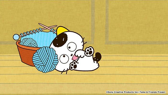 アニメ タマ&フレンズ~うちのタマ知りませんか?~ 今日のお話は「タマと毛糸だま」タマが毛糸だまとたわむれると…? 7: