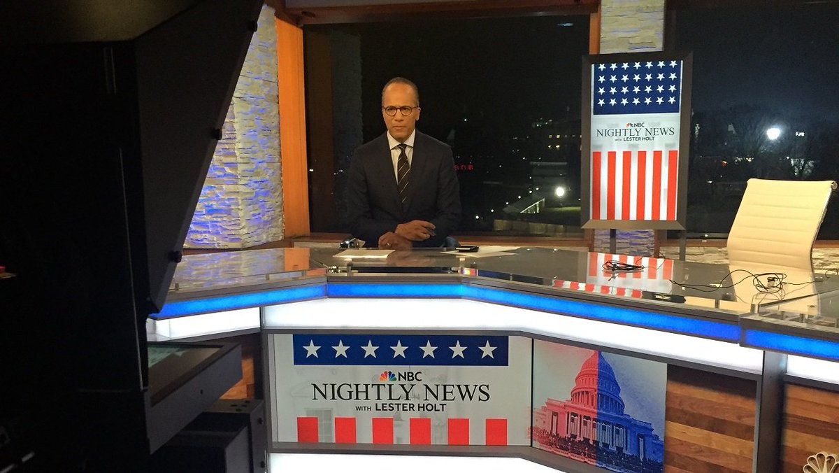 NOW: A 1-hour #Inauguration edition of @NBCNightlyNews with @LesterHoltNBC/