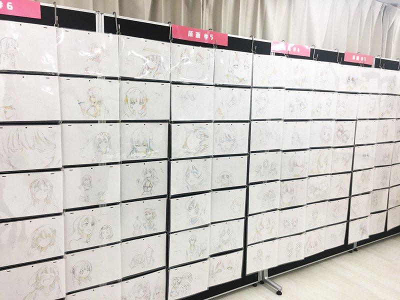 秋葉原のボークス秋葉原ホビー天国7階ではガーリッシュ ナンバー展が開催中です!膨大な原画やコンテ、設定資料の展示の他グッ