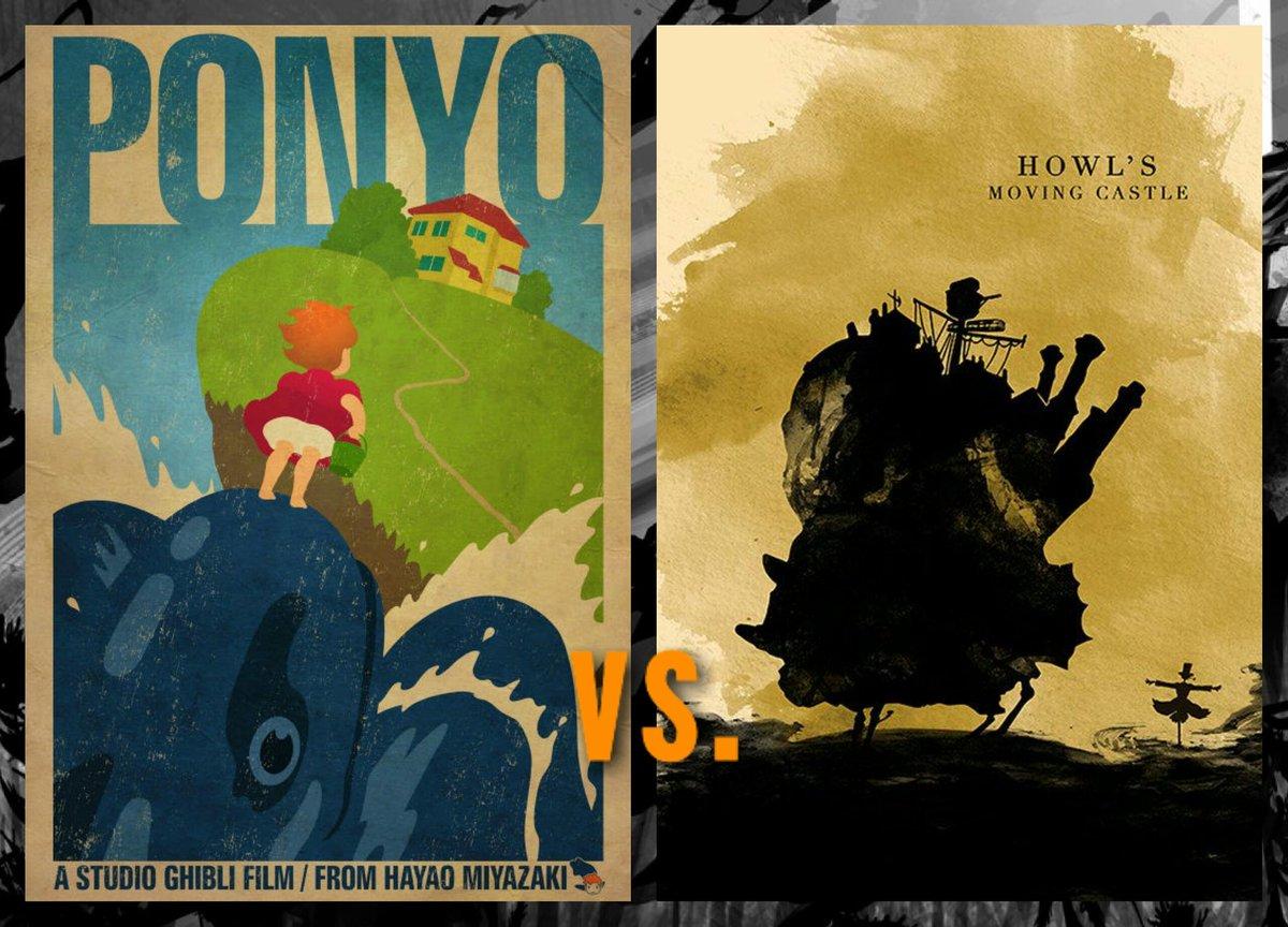 Ponyo(崖の上のポニョ) vs.Howl's Moving Castle(ハウルの動く城) (Ponyo = L