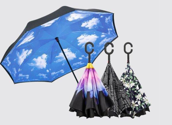 1000RT:【驚くほど濡れない】上下逆さまに開く傘が登場! 「あらゆる盲点」に対応 https://t.co/t08AHfArmg  濡れた部分を内側にして閉じることで、車や電車に乗るときに感じる不便さを解消した。日傘としても使用できるという。
