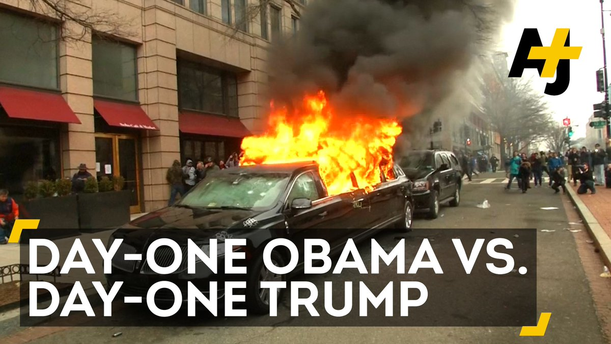 How does day-one Obama compare to day-one Trump?