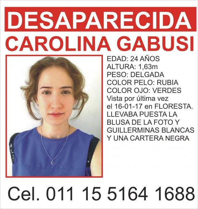 Carolina Gabusi tiene 24 años y hace cuatro días que está desaparecida  https://t.co/QPyR4PhnKA