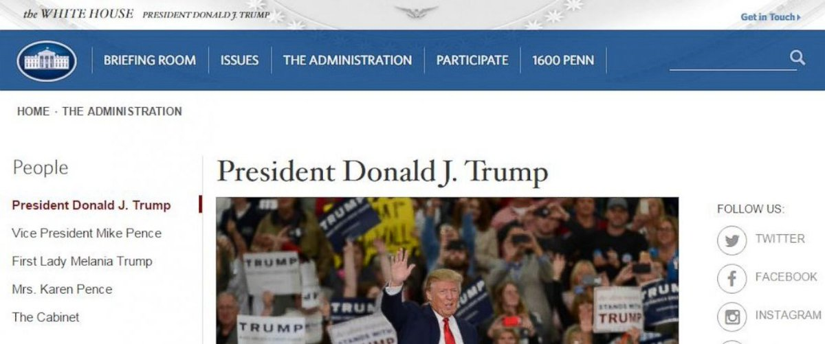 Trump administration corrects error on White House website about Pres. Trump's margin of victory in 2016 election. https://t.co/PPFgiMMSzn