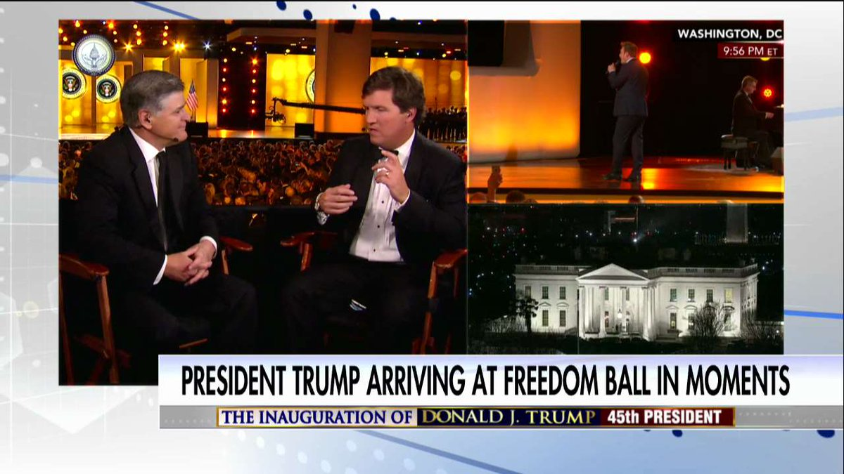 .@POTUS arriving at Freedom Ball in moments! Stay tuned to Fox News Channel for continuing live coverage. #Trump45 #inauguration