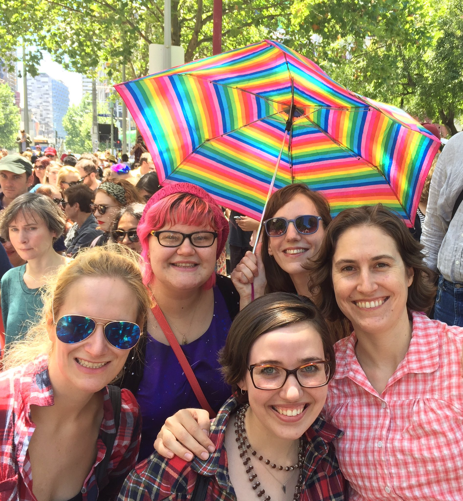 With my ladies at #WomensMarchMelbourne https://t.co/Ia7jQTzouJ