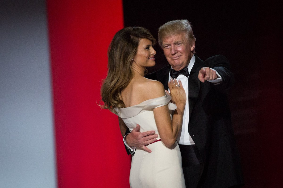 President Donald Trump and First Lady Melania Trump dance at the Freedom Ball in Washington, D.C. #Trump45 #inauguration