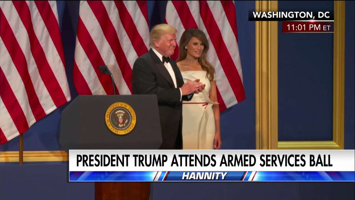 .@POTUS arrives at Armed Services Ball. #Trump45 #inauguration