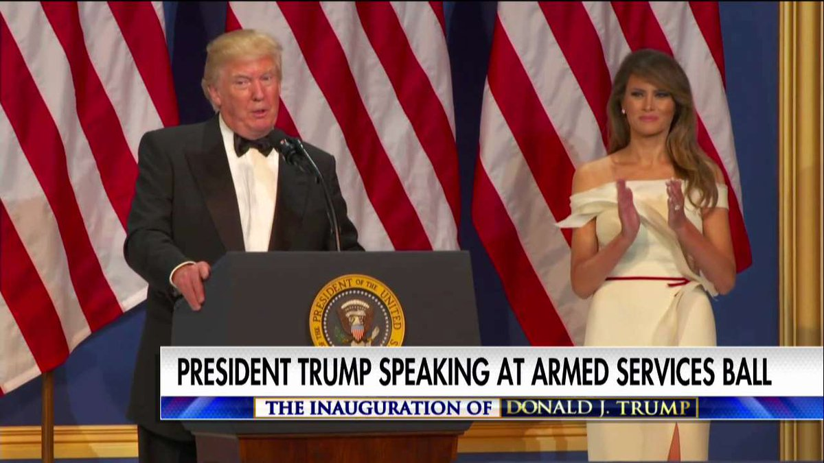 """.@POTUS: """"This is our military, this is our law enforcement, this is our first responders… you're amazing people."""" #Trump45 #Inauguration"""