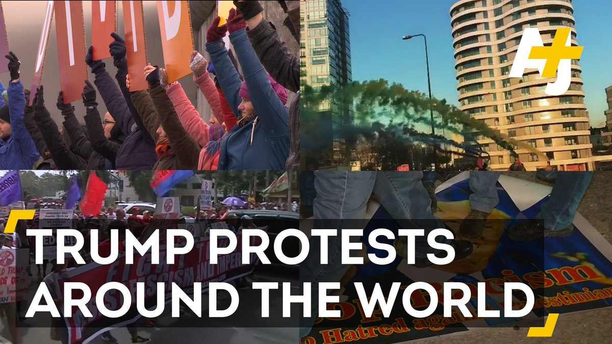It's not just Americans protesting President Trump.