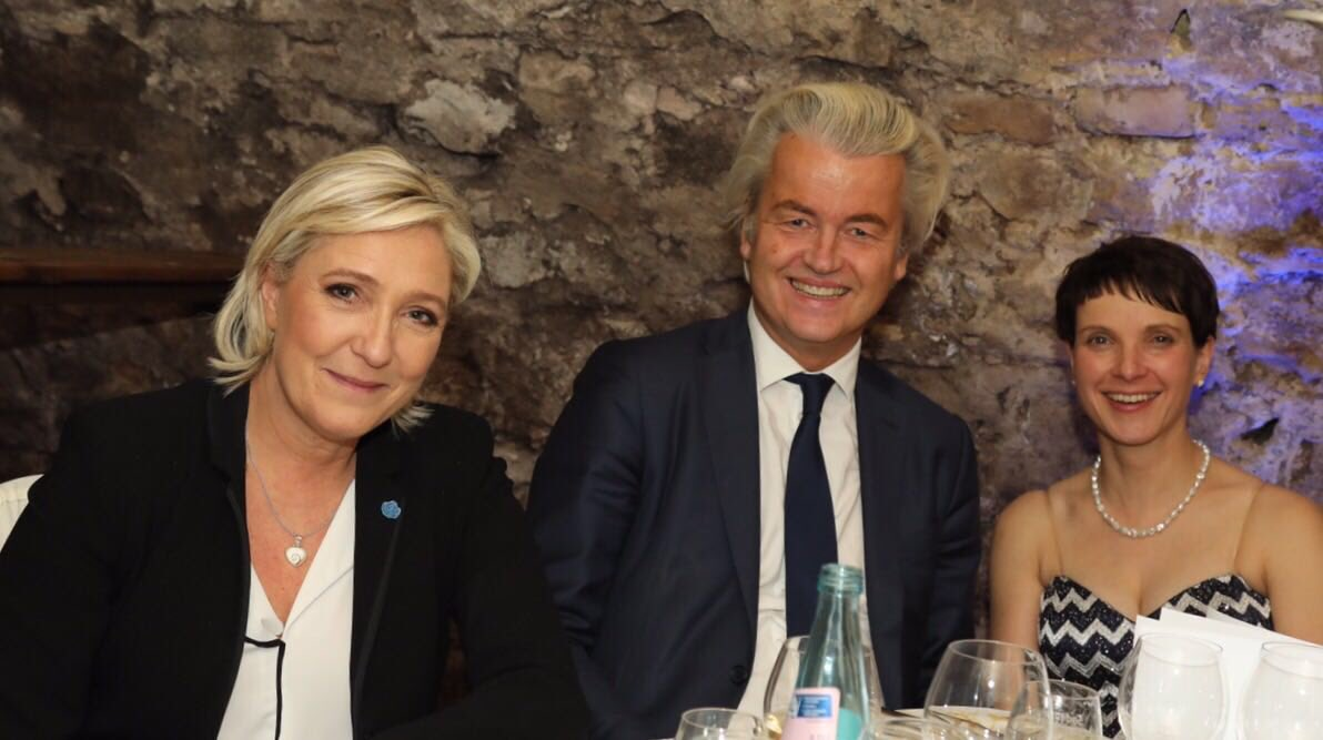 RT @geertwilderspvv: Proud to be with the leaders of the new Europe, @MLP_officiel and @FraukePetry https://t.co/WWiGstkiYs