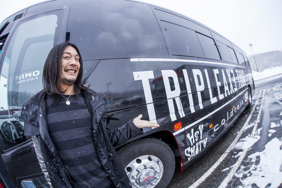 TRIPLE AXE一行は新潟に到着しました〜!photo by HayachiN