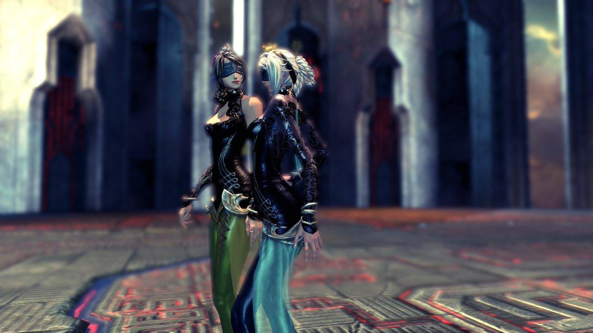 螺旋の迷宮のボス、風神と雷神のグラフィックがリニューアルされました(※嘘です)#ブレイドアンドソウル