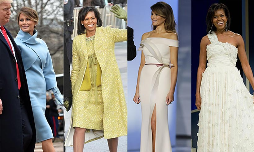 How does Melania Trump's style compare to America's most recent First Lady Michelle Obama?