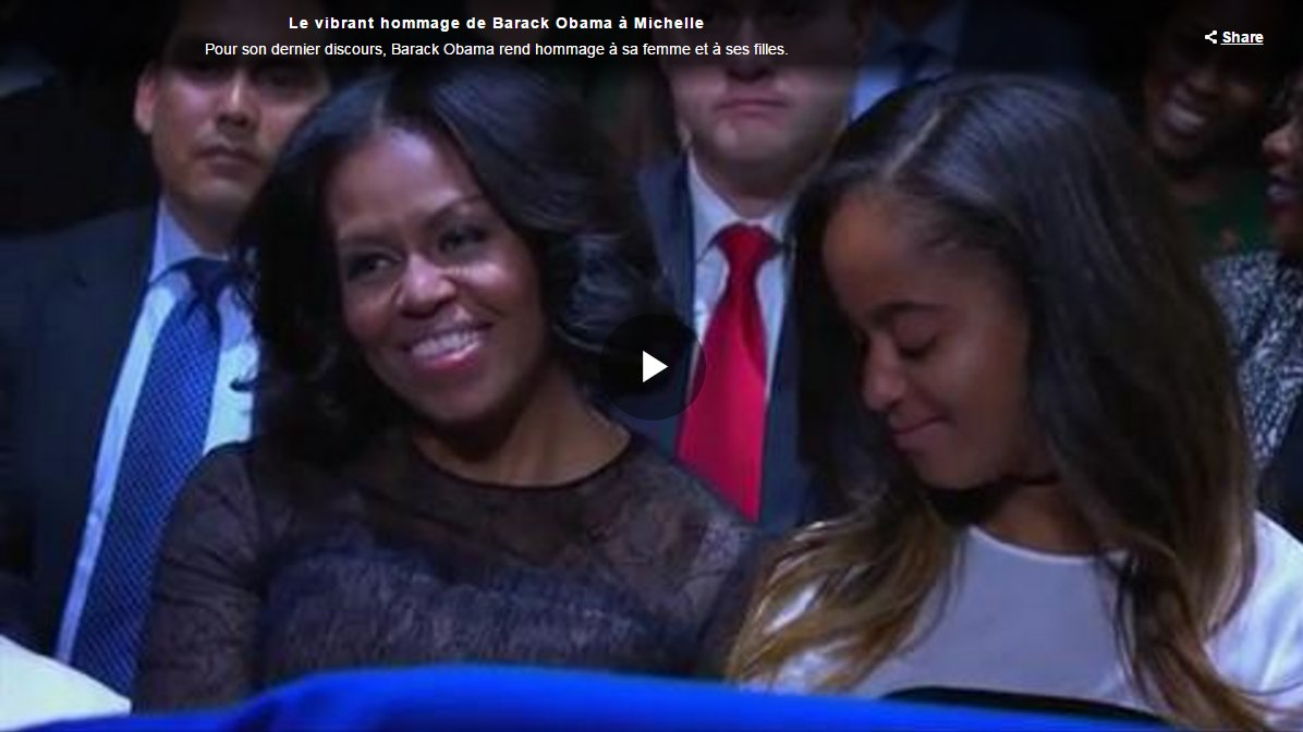 #BarackObama : la vidéo de son hommage à Michelle et Malia #émotion #USA #People >> https://t.co/sRmjPgaMyK