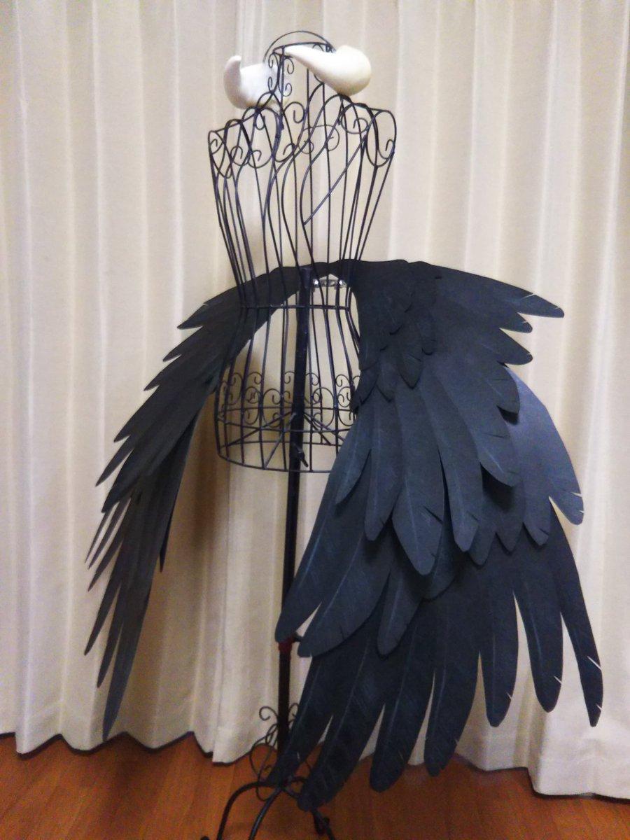 オーバーロードのアルベドの翼と角を制作させて頂きました🎵☺