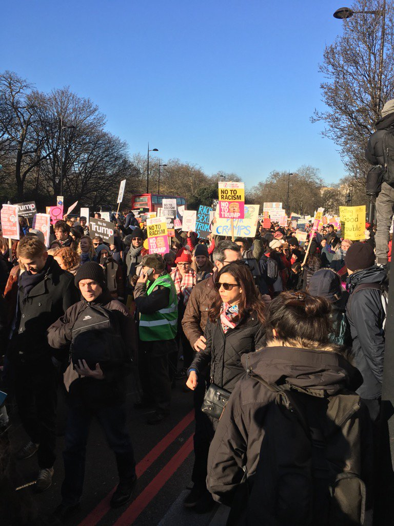 RT @DrJackyDavis: More people on the street in London than at Trumps #Inauguration  #WomensMarch https://t.co/rnvzaS8lt6