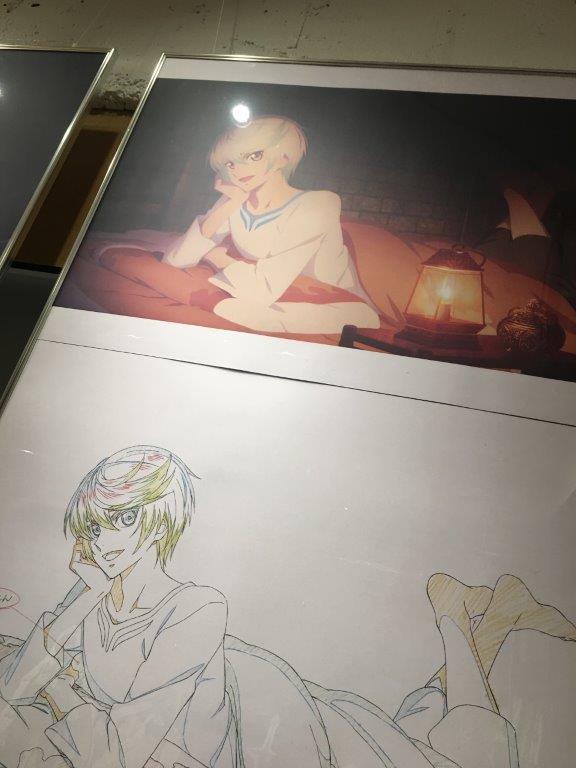 「テイルズ オブ ゼスティリア ザ クロス」カフェ-原画展示-各話数の原画はもちろん、コミックマーケット用に書き下ろした