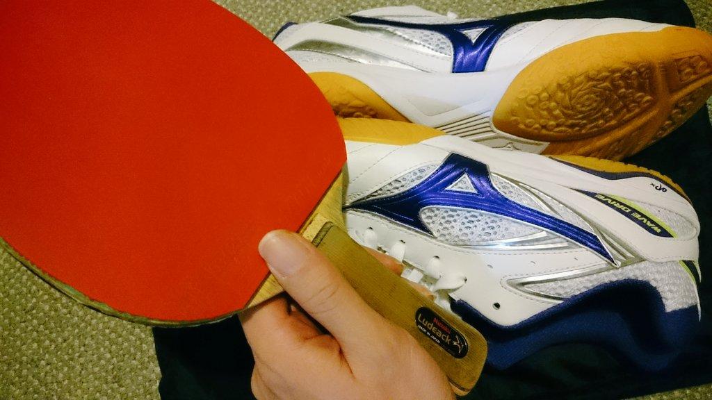 """上矢あがり(cv.田中美海)使用ラケット""""ルデアック(FL)""""と使用シューズが揃いました、灼熱の卓球娘のおかげで卓球が更"""