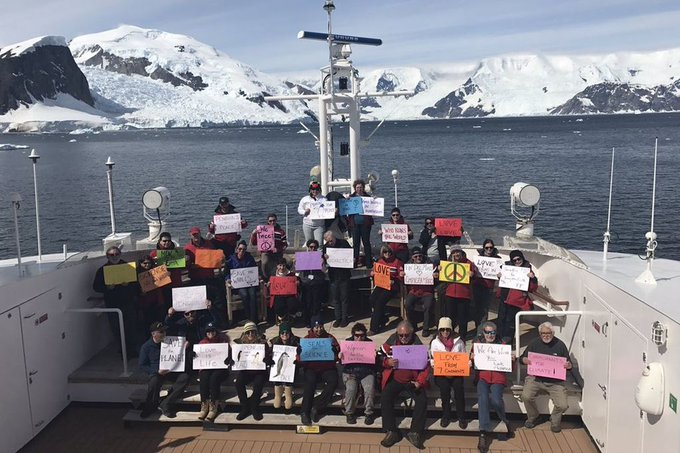 The Women's March movement is taking place on every continent, even Antarctica https://t.co/PQwNH1m5ag