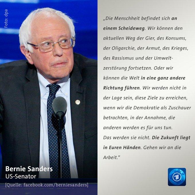 US-Senator und Ex-US-Vorwahlkandidat Bernie #Sanders hat sich mit einem Appell an die Menschen in den #USA und der ganzen Welt gewendet.