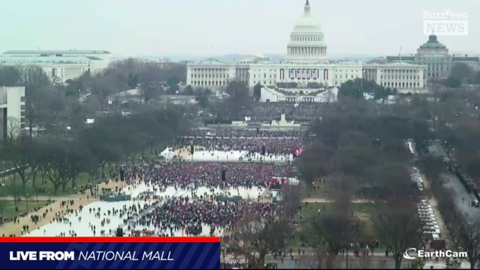 Wow. Donald Trump should have scheduled his inauguration for today. There seem to be a lot more people in town