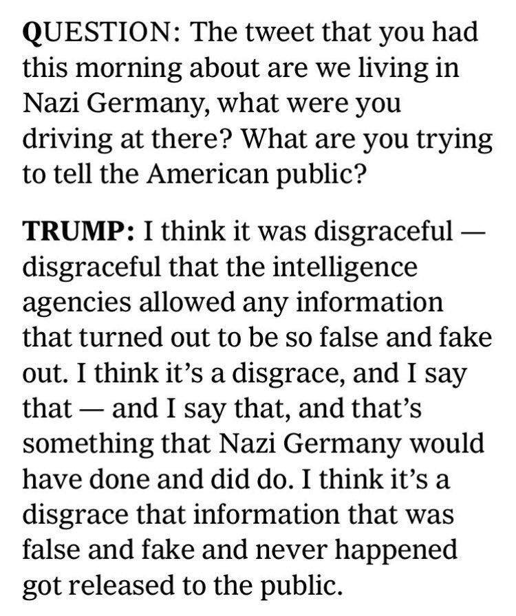 Trump: The media is dishonest, make it seem like I had a feud with the intel community.   Trump, *literally 10 days ago*: