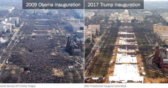 President Trump is disputing how many people attended his inauguration. We had experts assess the crowd size. https://t.co/B5olahGgQc