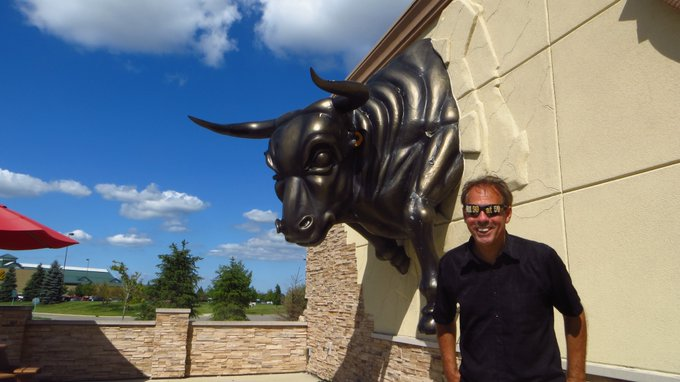 1/13 Happy Birthday Richard Moll   Bull phrom Night Court with this Bull in Dundee, Michigan