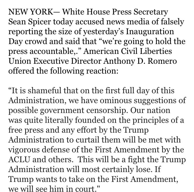 The remarks by President Trump's press secretary ring of McCarthyism and will lead to losing legal battles. Our response below.