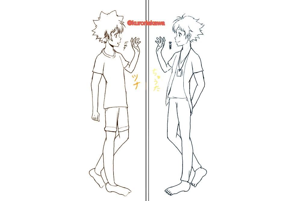 #エルドライブ #REBORN 宙太&綱吉公式でこんなイラストが見たいっていうのと、似てるけど違う2人が鏡越しで
