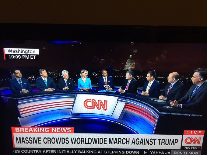 There is one woman on a CNN panel of nine pundits discussing the Women's March