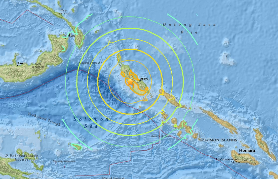 Tsunami warning issued after 8.0 quake hits Papua New Guinea