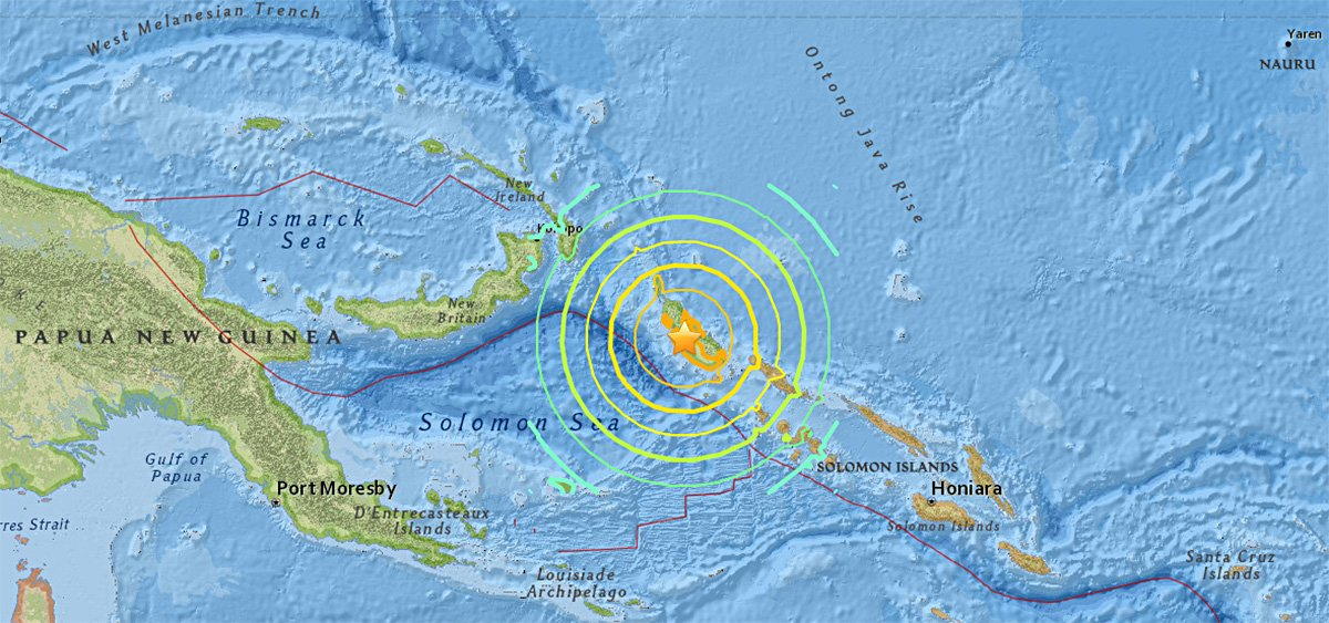 8.0 magnitude earthquake strikes off Papua New Guinea, triggering tsunami warning