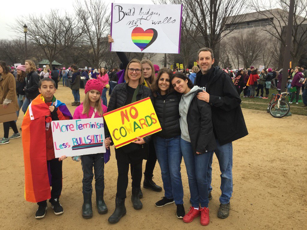 My family and friends at the march. Future leaders in tow!