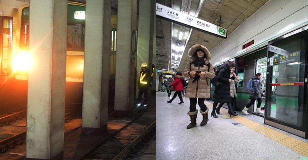 불난 지하철 '기다려라' 안내.. 승객들 '안 속는다' 탈출  승객들은 연기가 나는 것을 보고 안전문(스크린도어)을 밀어 자력으로 대피했다.  https://t.co/5pWPpNjXuW