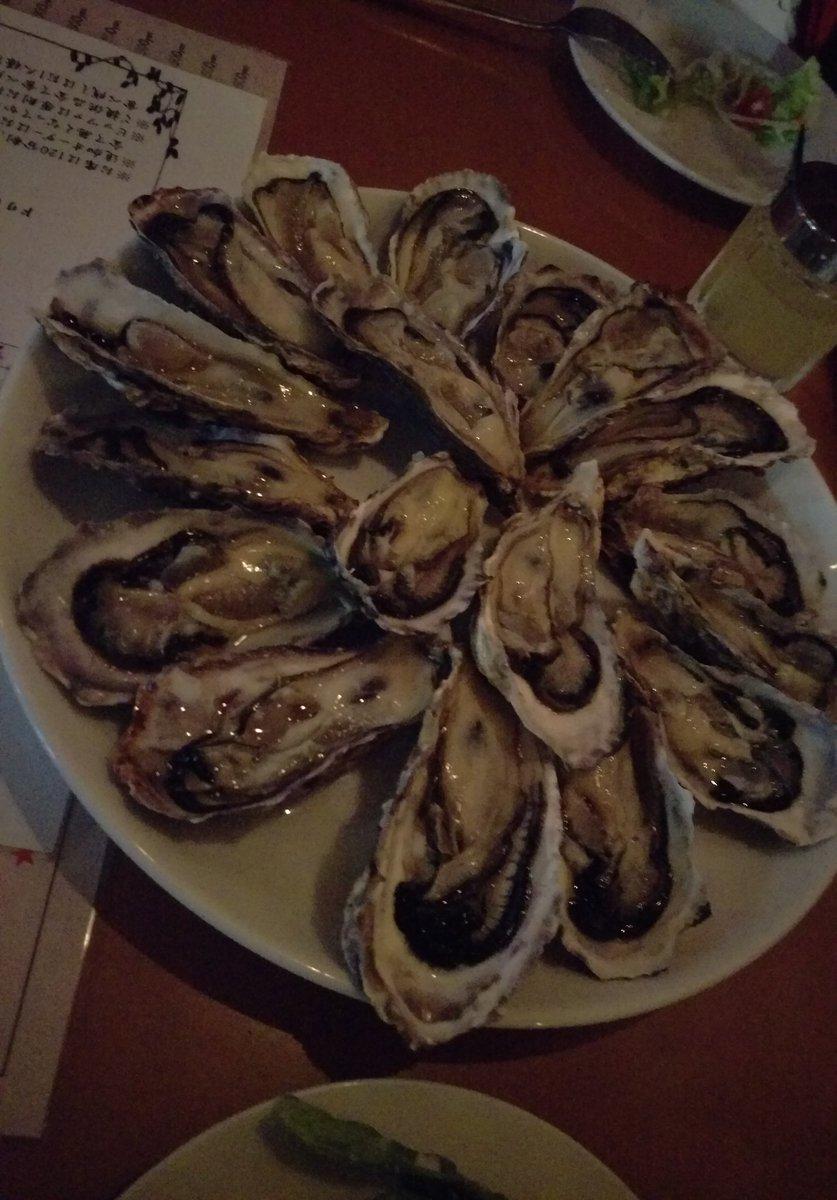 昨日はお友達と落語心中を一気見する会しました(˘ω˘♡) 夜は生牡蠣の食べ放題〜!夜は舟を編む、朝からヴァンガ、バディフ