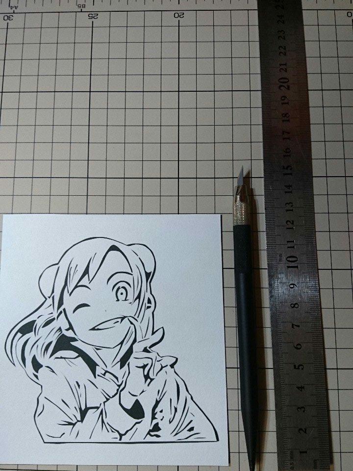 亜人ちゃんは語りたいのヴァンパイア 小鳥遊ひかりちゃんを切らせて頂きました。大きさは約13cm×12cmです。初逆抜きで