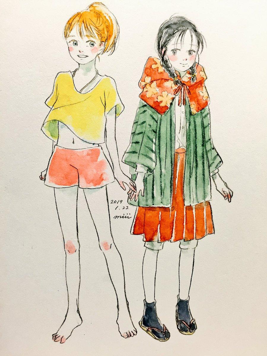 片渕須直監督つながりで12歳のすずさんとナナミ。世界名作劇場展に行くまで七つの海のティコに関わられてたこと知らなくて、会