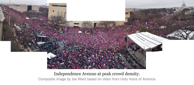 Crowd scientists say women's march in Washington had 3 times more people than Trump's inauguration. https://t.co/NICfkWYMnW