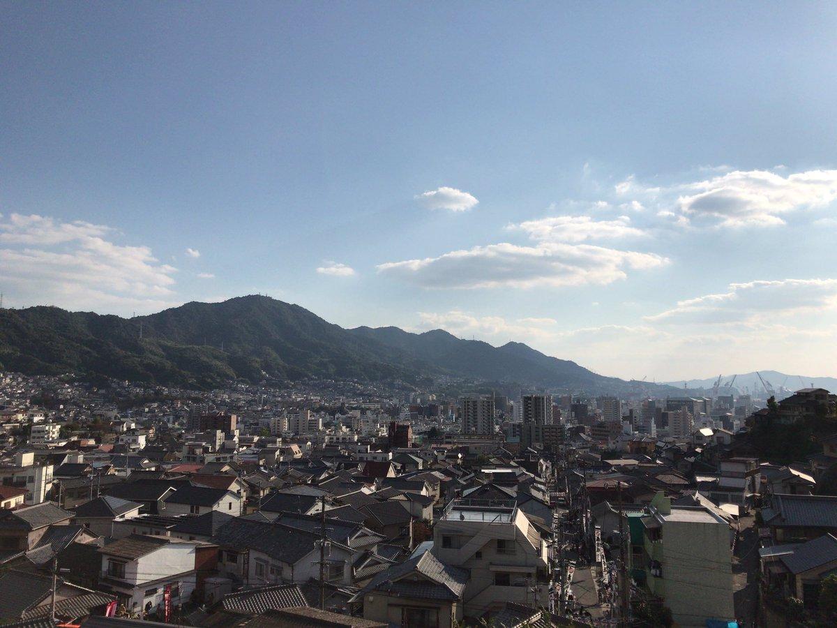 #この世界の片隅にすずさんたちの家の辺りよりちょっと西の眺め(祭りの時の神社からの写真)