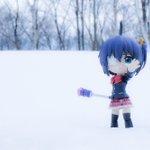 雪景色と六花。#キューポッシュ #chu2koi