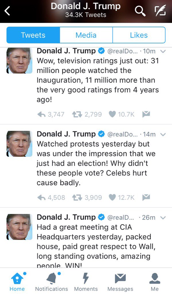 1 Skips national security briefings;has TV ratings delivered to his desk 2 Will 'go around the media;'watches nonstop