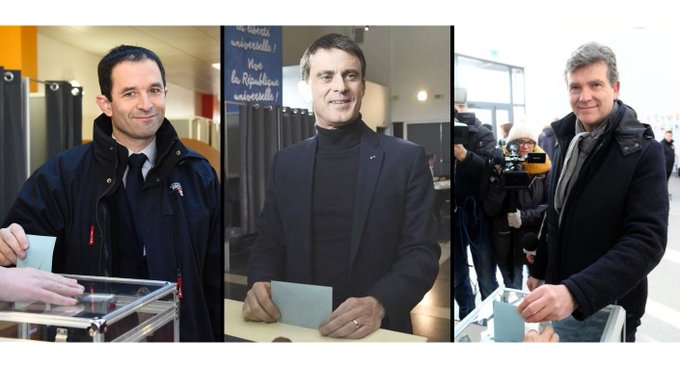 #Alerte: Hamon arriverait devant Valls et Montebourg selon une première estimation #PrimaireGauche #RadioLondres https://t.co/slHXgFgbGZ